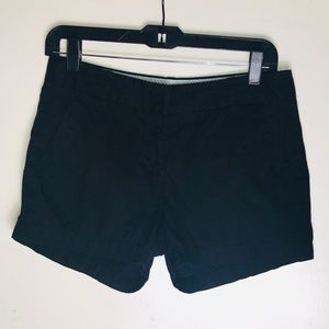 NWOT Size 2 Black J.Crew broken in Chino shorts